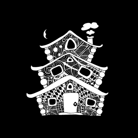 Fairy house, sketch for your design. Vector illustration Illustration