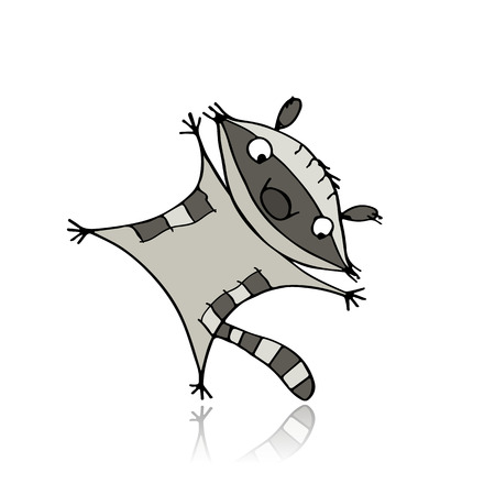 Funny raccoon for your design. Vector illustration Illustration