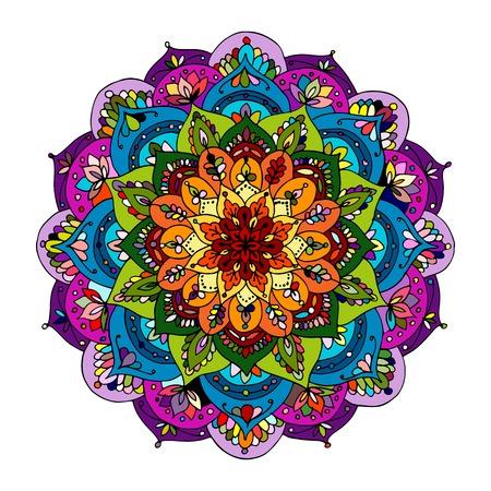 Mandala ornament, colorful pattern for your design. Vector illustration