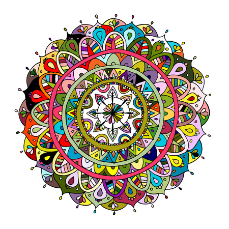 Mandala ornament, colorful pattern for your design. Vector illustration