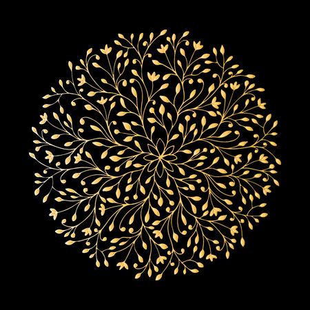 Mandala ornamento, modello d'oro per il design. illustrazione di vettore Archivio Fotografico - 61980215
