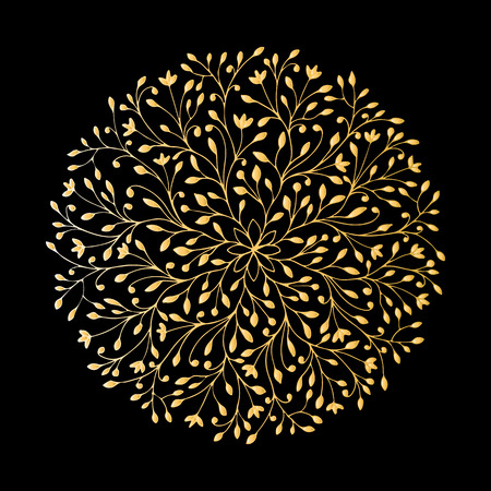 Mandala ornament, golden pattern for your design. Vector illustration