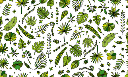 tropical plants: Tropical plants, seamless pattern for your design. Vector illustration