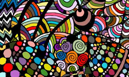 Zentangle abstract background, sketch for your design. Vector illustration