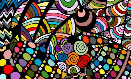 Zentanglesamenvatting achtergrond, schets voor uw ontwerp. vector illustratie Vector Illustratie