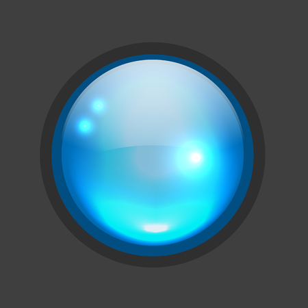 site backgrounds: Glossy circle button for your design. illustration
