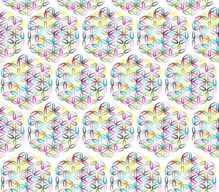 flower of life: Flower of Life, seamless pattern for your design, illustration Illustration