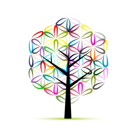 universal love: La flor de la vida. Árbol del arte, bosquejo para su diseño. ilustración