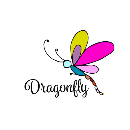 Art dragonfly, sketch for your design. illustration