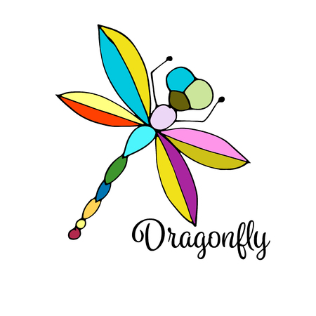 business flying: Art dragonfly, sketch for your design.  illustration