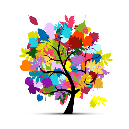 maple tree: Colorful autumn tree for your design. Vector illustration