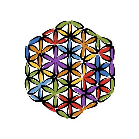 Blume des Lebens, Skizze für Ihr Design, Vektor-Illustration Vektorgrafik