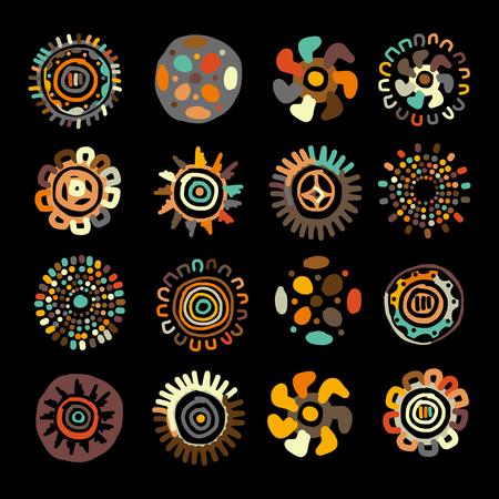 Etnisch met de hand gemaakt ornament voor uw ontwerp. illustratie Stock Illustratie