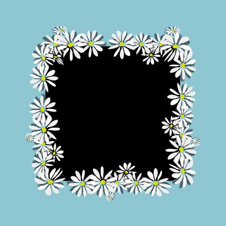 Daisy frame, sketch for your design