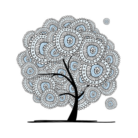 tree design: Abstract floral tree for your design.