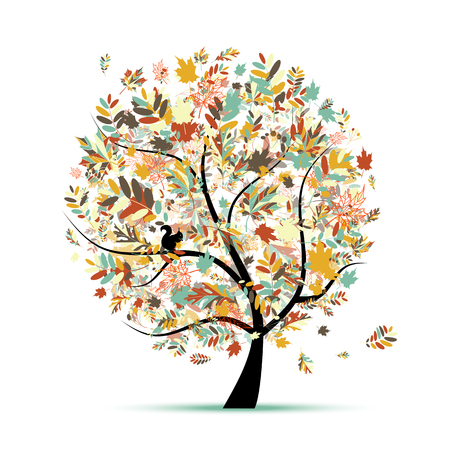 Beautiful autumn tree for your design. illustration Illustration