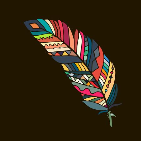 oiseau dessin: plume d'art pour votre conception. illustration Illustration