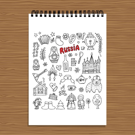 matrioska: Russia, icons collection. Sketch for your design