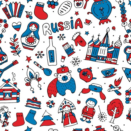 matrioska: Russia, seamless pattern for your design