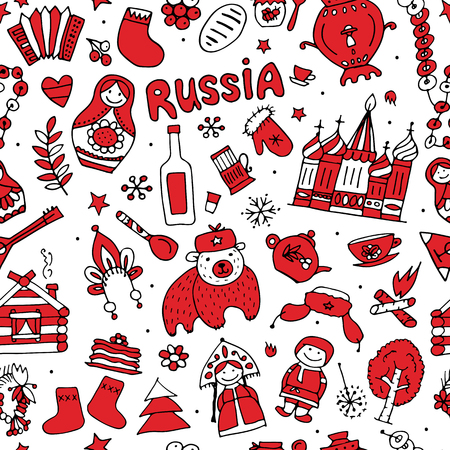 matreshka: Russia, seamless pattern for your design