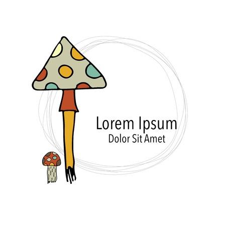 champignon: Art mushroom, sketch for your design