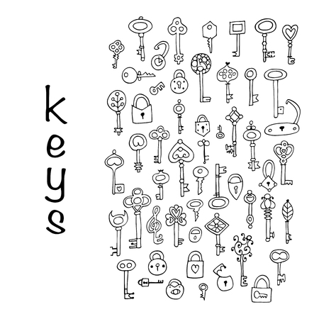 passkey: Keys collection, sketch for your design