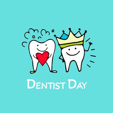 prin: día dentista, boceto tooths para su diseño