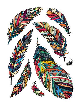 cobranza: colección de plumas para su diseño