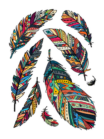 collections: Feather collection for your design Illustration
