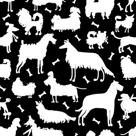 labrador: Funny dogs collection, seamless pattern for your design.