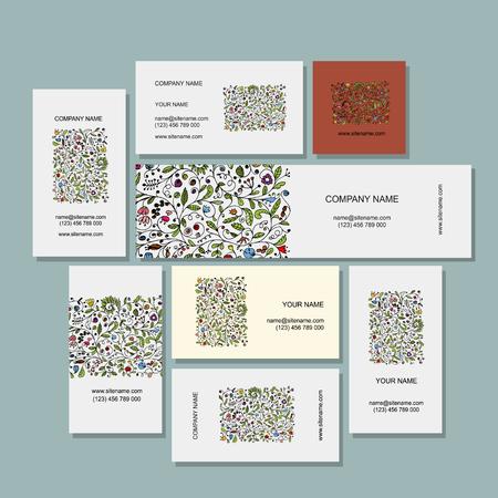 花のデザイン名刺コレクション