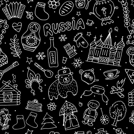 Im schwarzen Russland, nahtloses Muster für Ihr Design Standard-Bild - 73938905