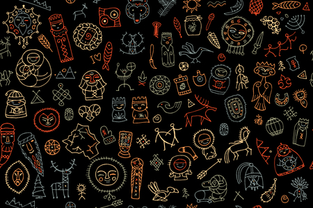 Tribal ethnic elements - seamless pattern.