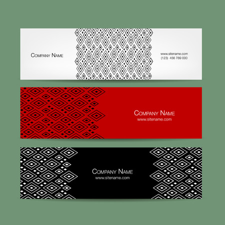 telephone: Banners set, abstract geometric design