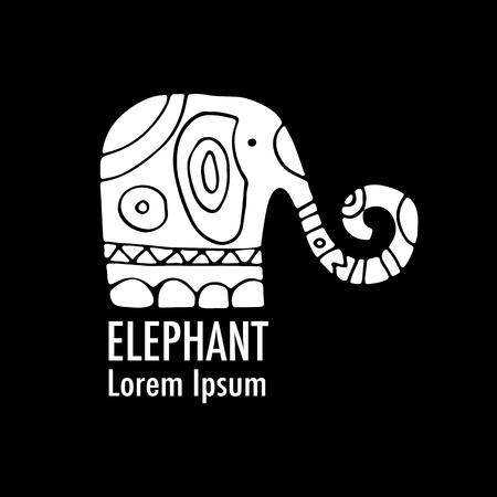 Sierlijk olifantontwerp