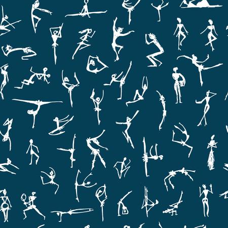 Danseuses, croquis pour votre design Banque d'images - 76711650