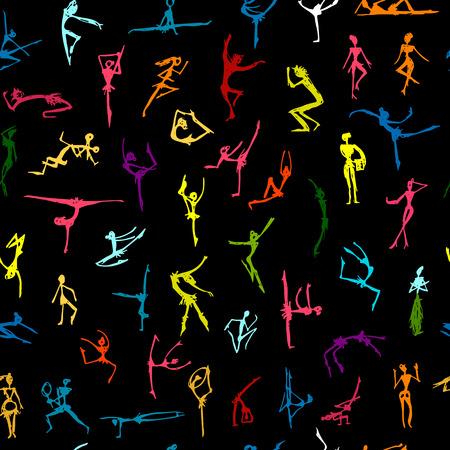 Dansende mensen, schets voor uw ontwerp