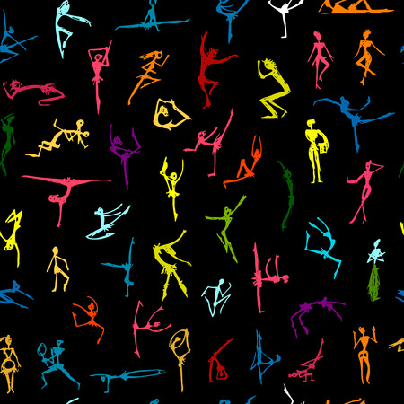 Dancing people, sketch for your design