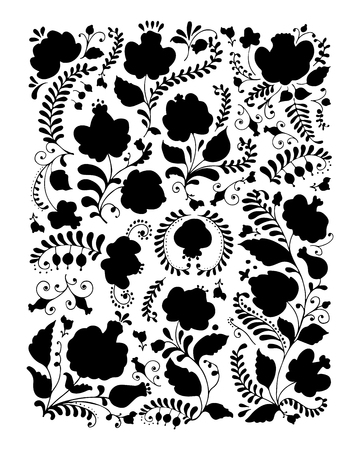 traditional culture: Floral ornament, sketch for your design