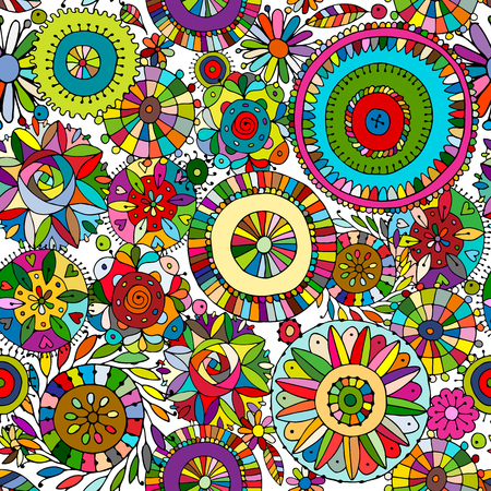 pattern: Floral seamless pattern, sketch for your design