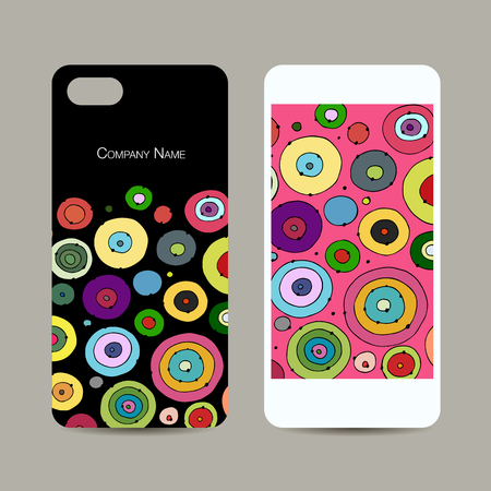 telephone: Mobile phone cover design, abstract circles pattern