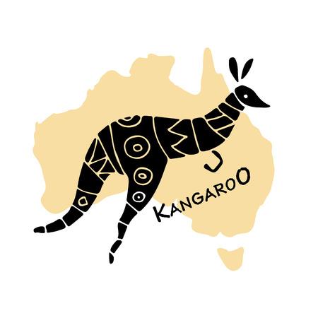 Kangaroo, sketch for your design Illustration