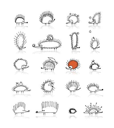 고슴도치 컬렉션, 디자인을위한 스케치