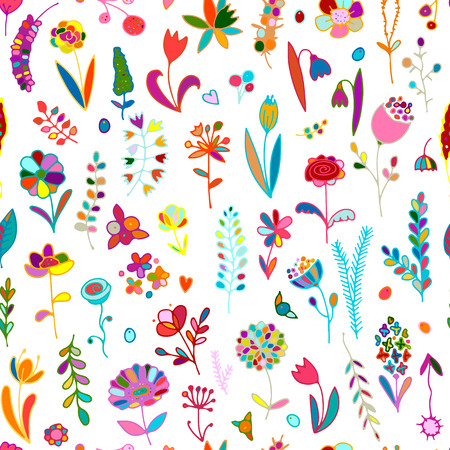 repetition: Floral seamless pattern, sketch for your design