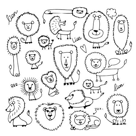 Lustige Löwen, Skizze für dein Design