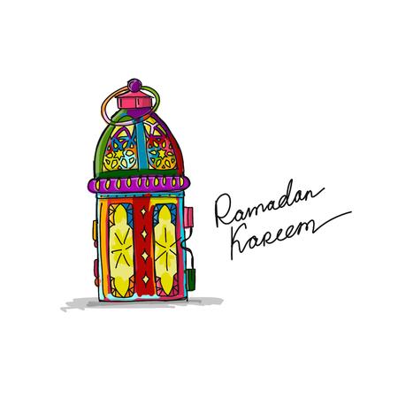Traditional ramadan kareem month celebration. Greeting card design
