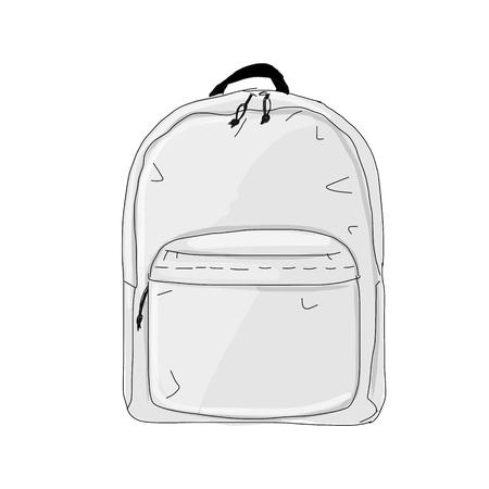 Backpack mockup, sketch for your design. Illustration