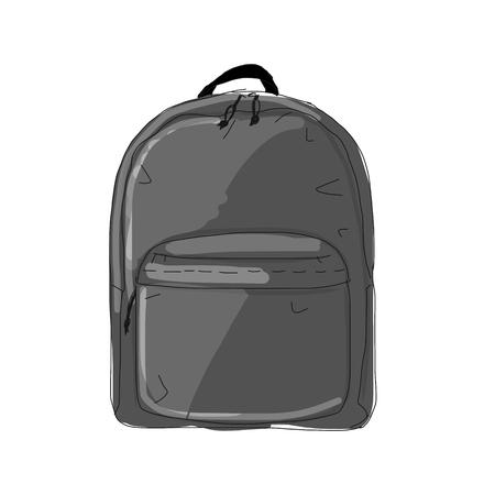 Backpack mockup, sketch for your design. Ilustracja