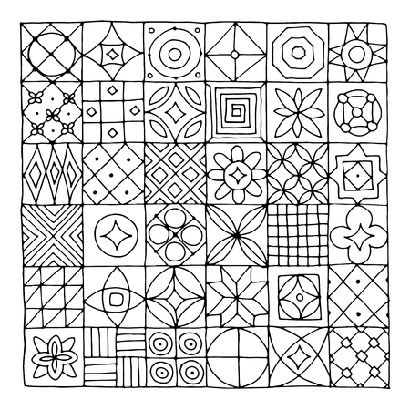 Abstract geometric pattern for your design Иллюстрация