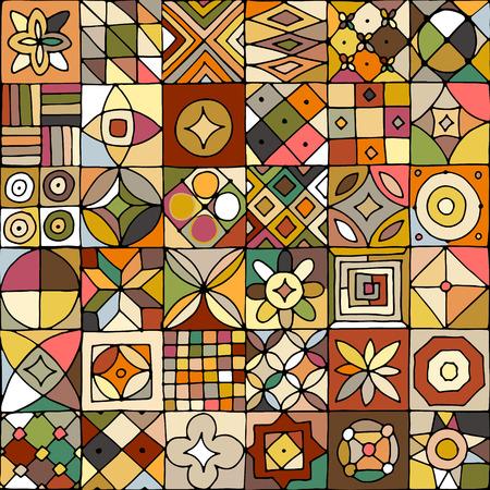 디자인을위한 추상 형상 원활한 패턴